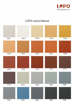 LOPO Standard Color for Terracotta Facade Panel