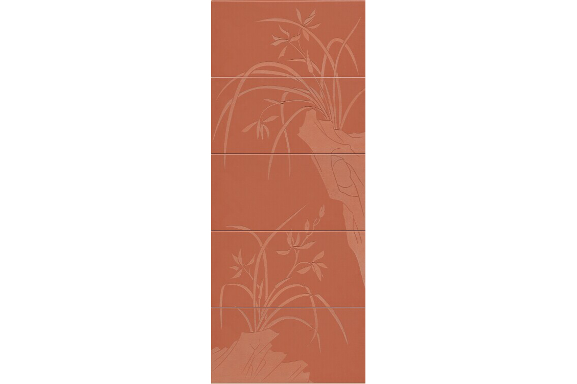 Micro-engraved Terracotta Panel Orchid