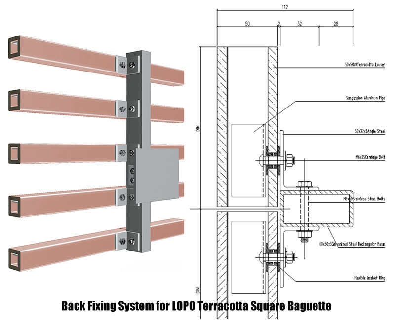 Installation System Of Lopo Terracotta Baguette Lopo China