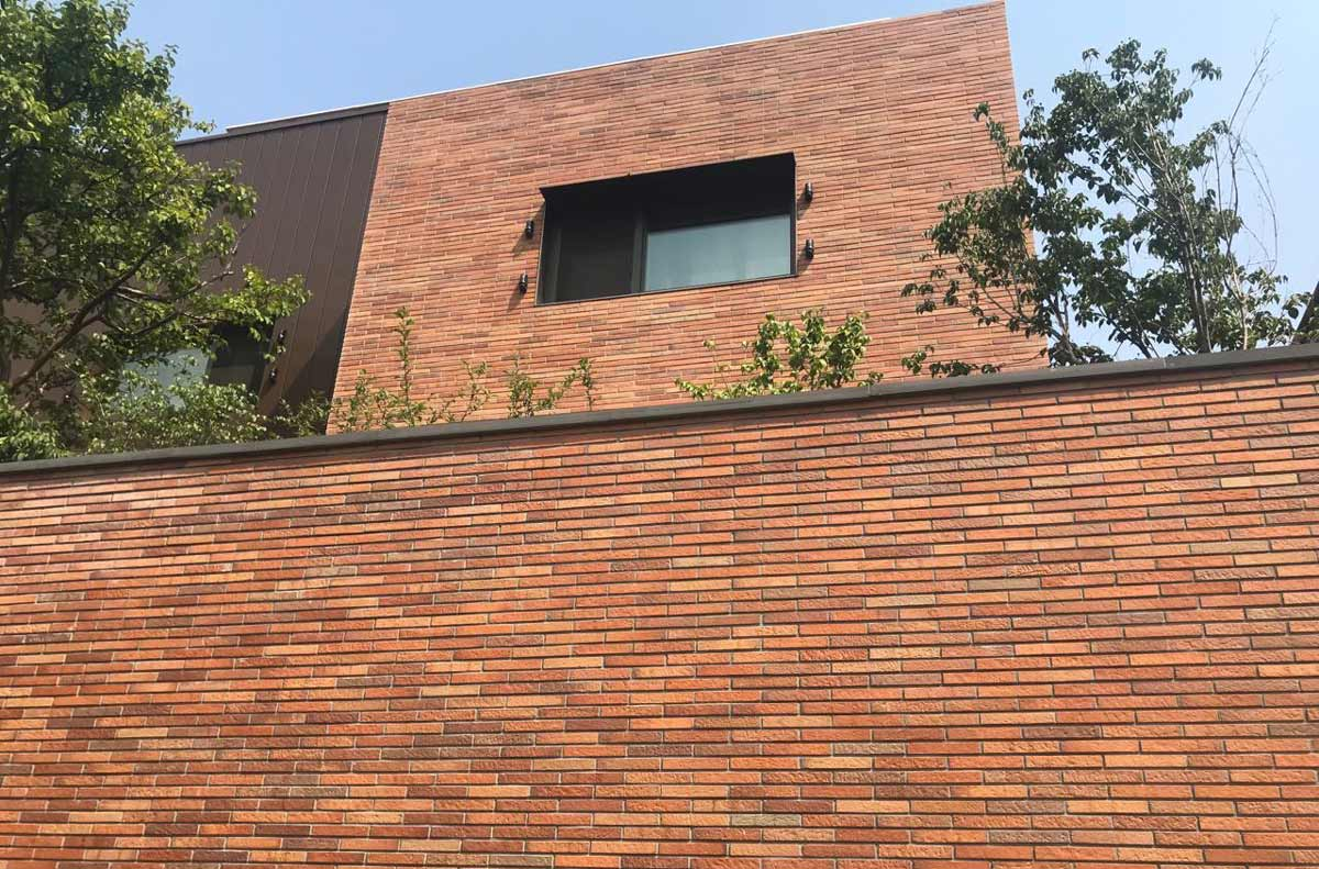 Long Brick Facade of Korea Historical Site (0)
