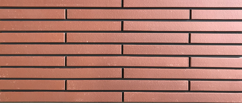 red long shaped brick (natural surface)